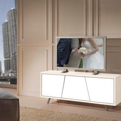 Porta tv laccato 2 c/cass. push and pull immagine 1